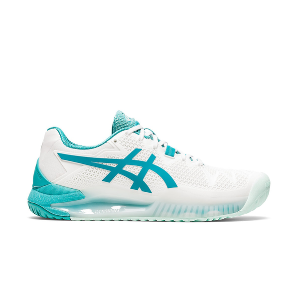 Asics Gel Resolution 8 (Women's) - White/Lagoon