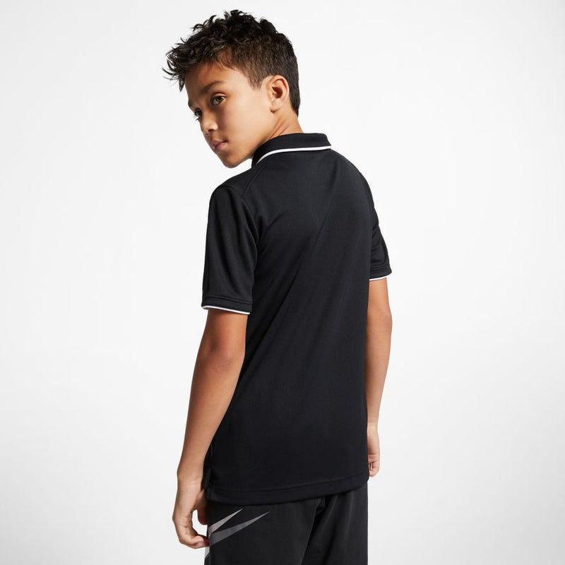 Nike Court Dri-Fit Tennis Polo (Boy's) - Black/White