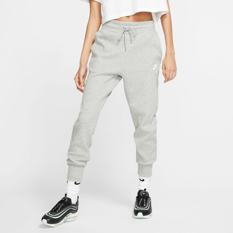 Nike Sportswear Tech Fleece Pant (Women's) - Dark Grey Heather/Matte Silver/White