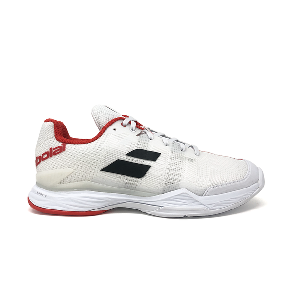 Babolat Jet Mach 2 Clay (Men's) - White/White/Red