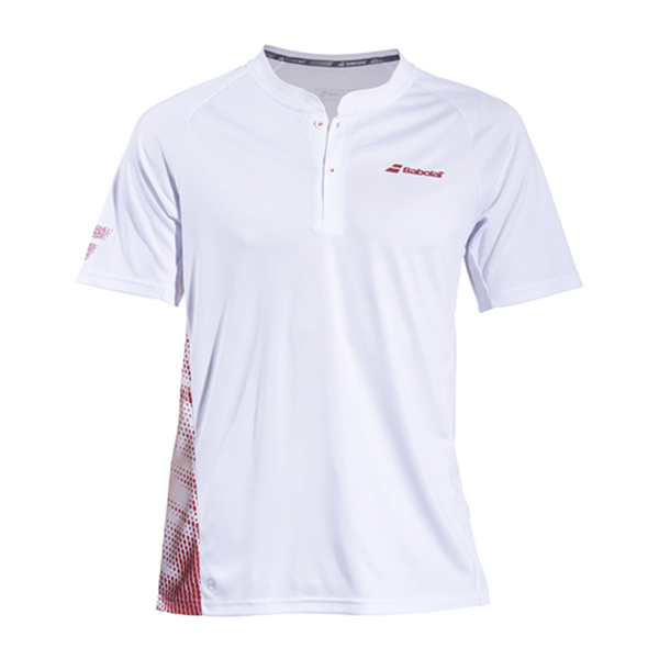 Babolat Performance Polo Top (Men's) - White/Red