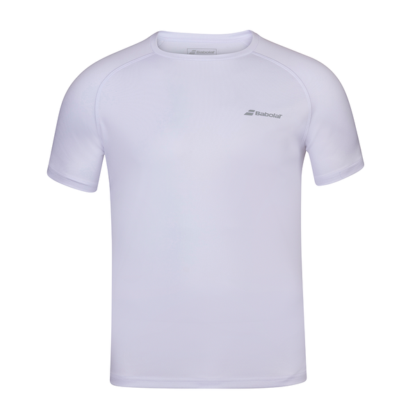 Babolat Play Crew Neck Tee (Men's) - White/White