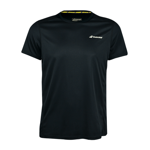 Babolat Core Flag Tee (Men's) - Black/Black-Tops-online tennis store canada