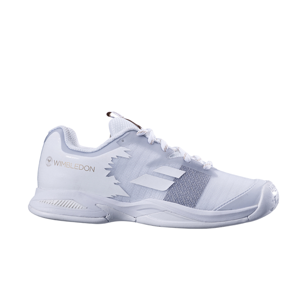 Babolat Jet All Court Wimbledon (Junior) - White/White-Footwear-online tennis store canada