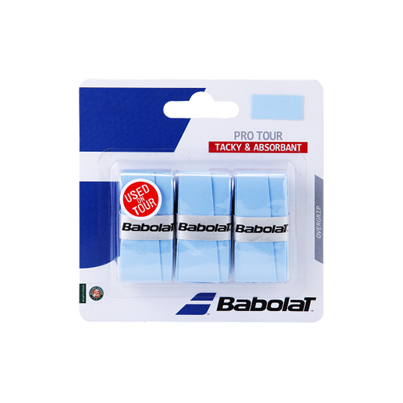 Babolat Pro Tour Overgrip 3 Pack - Blue