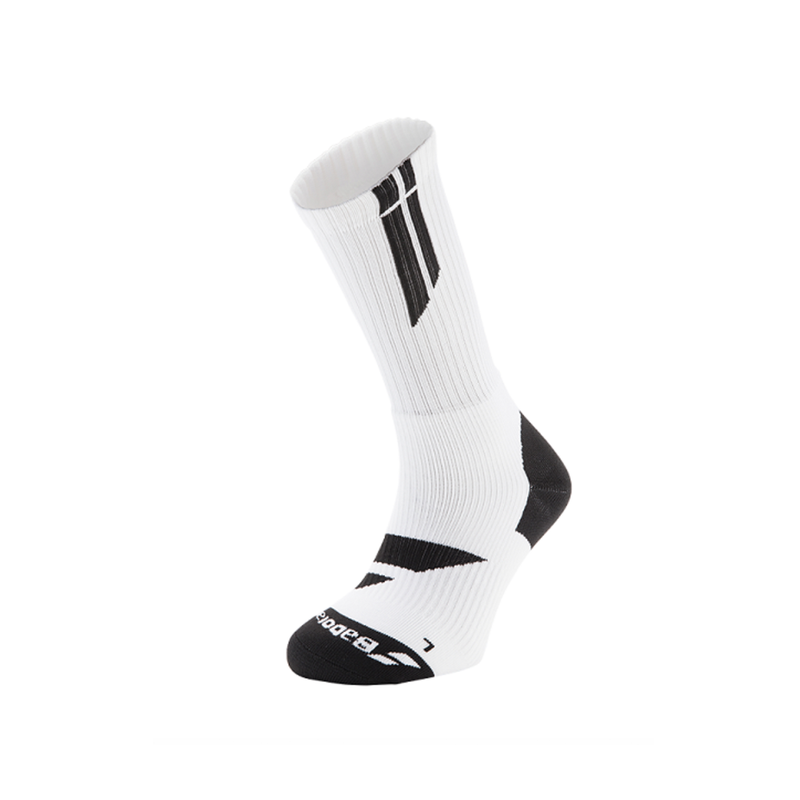 Babolat Team Big Logo Socks (Men) - White/Black