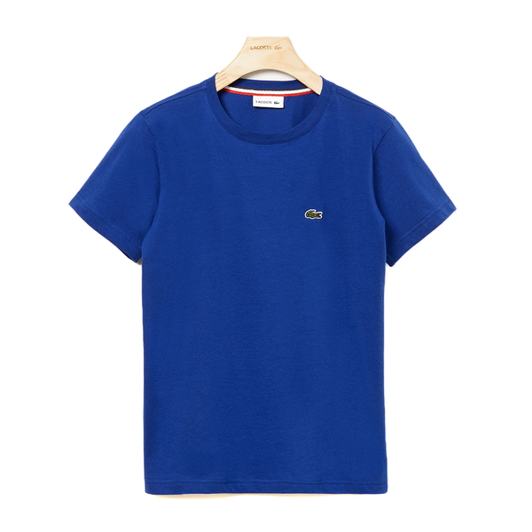 Lacoste Crew Neck Cotton T-shirt (Boy's) - Blue-Tops-online tennis store canada