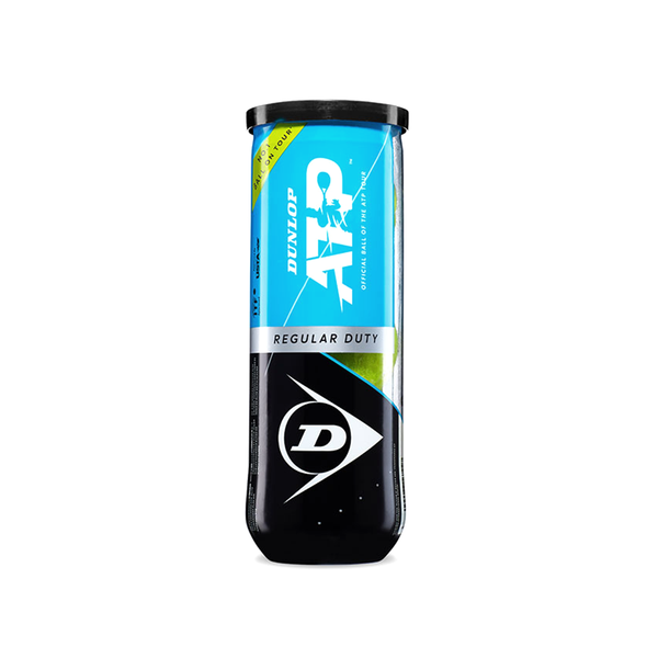 Dunlop ATP Regular Duty Tennis Ball - Individual Can (3 Balls)