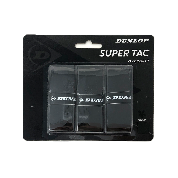 Dunlop Super Tac Overgrips (3 Pack) - Black
