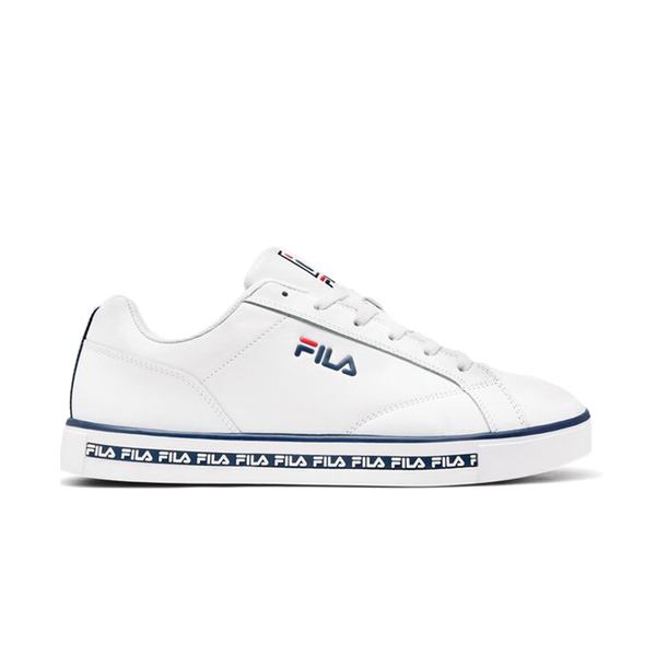 Fila Original Court Leather (Men's) - White/Navy/Red