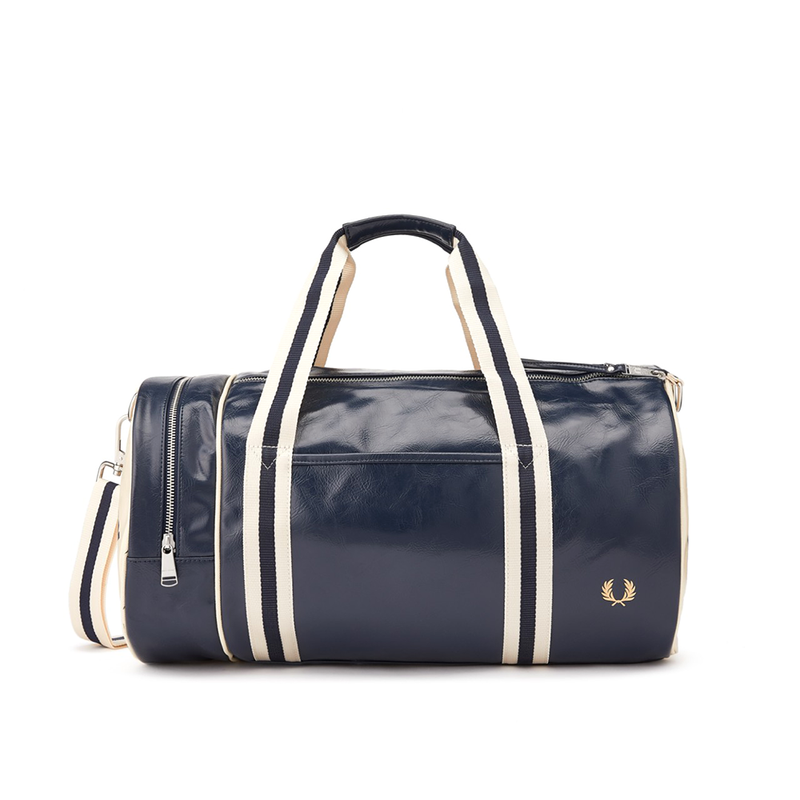 Fred Perry Classic Barrel Bag - Navy/Ecru