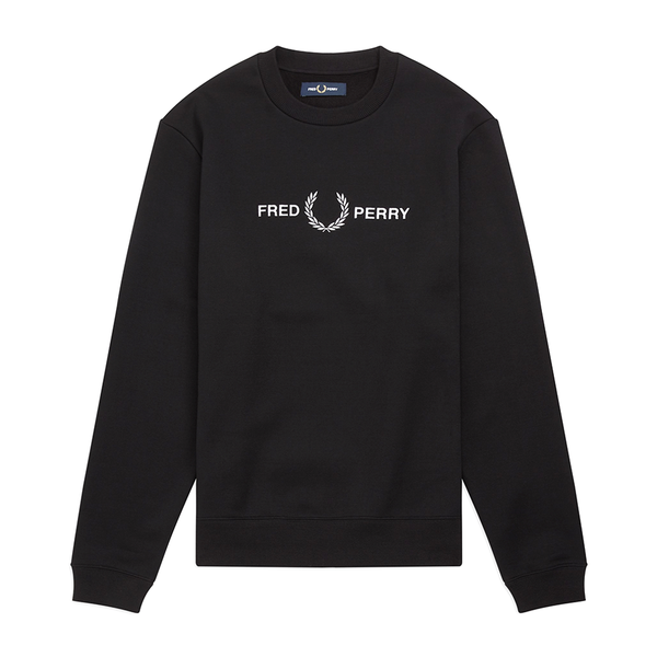 Fred Perry Graphic Sweatshirt (Men's) - Black-Tops-online tennis store canada