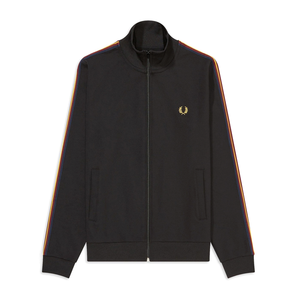 Fred Perry Taped Sleeve Track Jacket (Men's) - Black