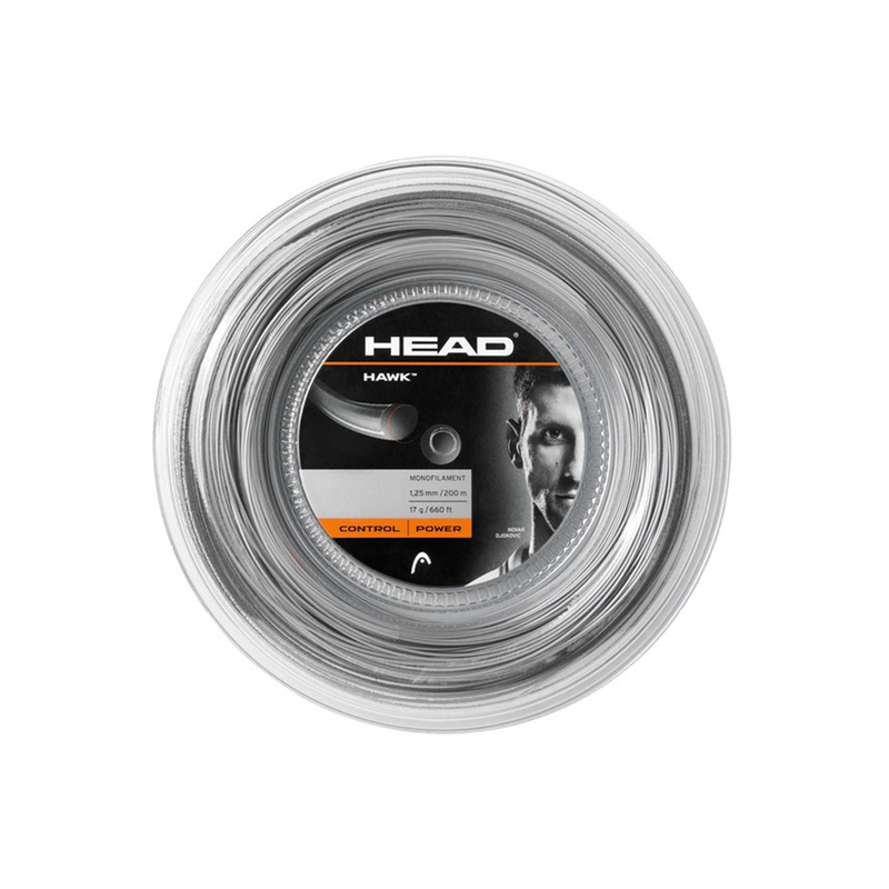 Head Hawk 17 Reel (200m) - Anthracite Grey-Tennis Strings- Canada Online Tennis Store Shop