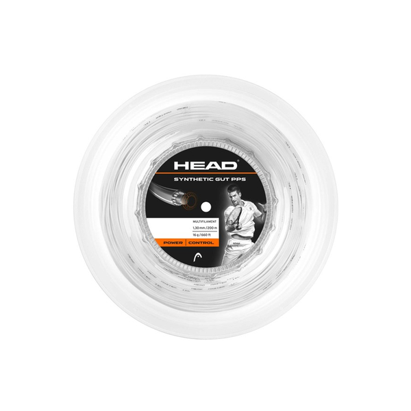 Head Synthetic Gut PPS 16 Reel - White-Tennis Strings- Canada Online Tennis Store Shop