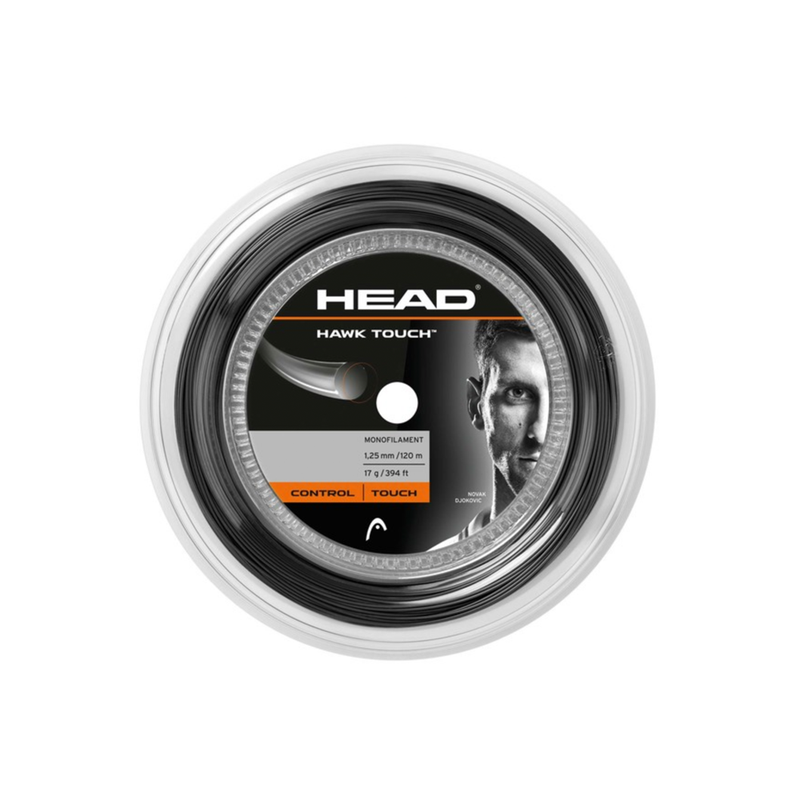Head Hawk Touch 17 Reel (120m) - Anthracite Grey-Tennis Strings-online tennis store canada