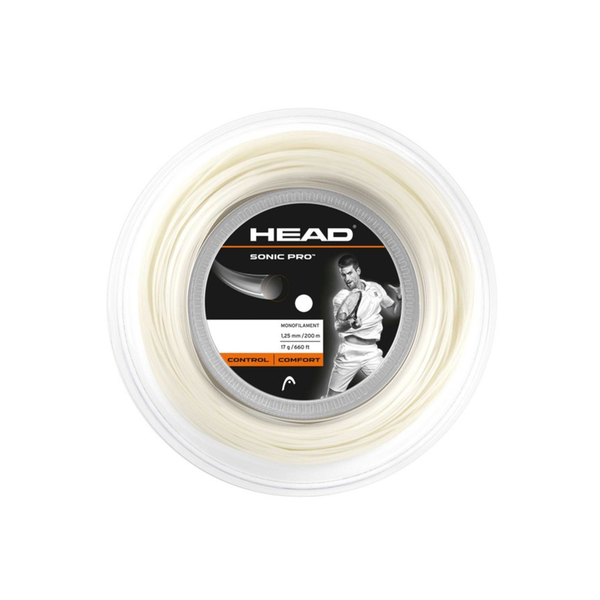 Head Sonic Pro 16 Reel (200m) - White-Tennis Strings-online tennis store canada