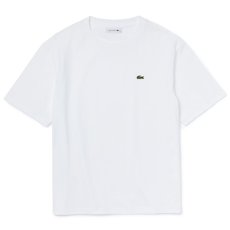 Lacoste Premium Cotton Crewneck T-Shirt (Women's) - White