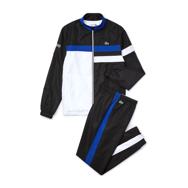 Lacoste Sport Lightweight Colourblock Tracksuit (Men's) - Black/White/Blue/White