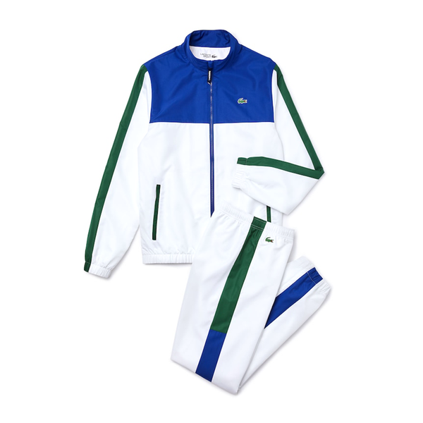 Lacoste Sport Lightweight Colourblock Tracksuit (Men's) - Blue/White/Green
