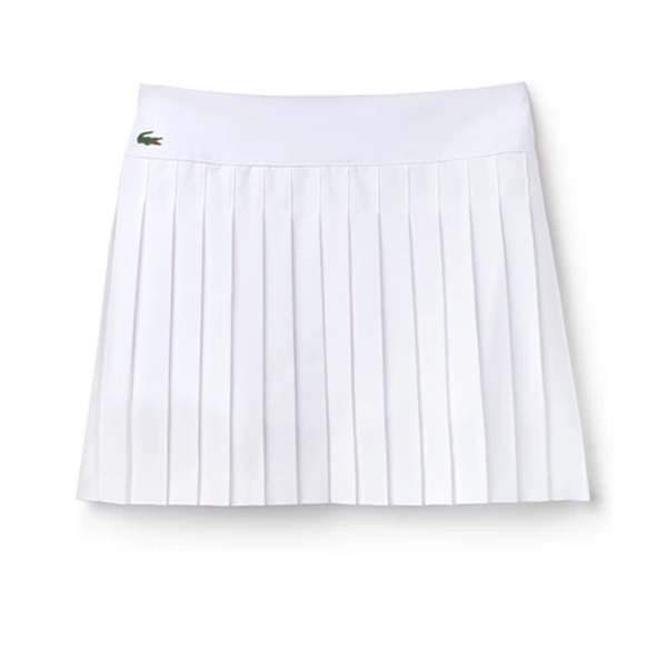 Lacoste Sport Tennis Technical Mesh Pleated Skirt (Women's) - White