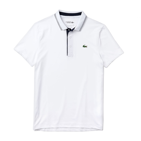 Lacoste  Sport Signature Breathable Polo (Men's) - White/Black