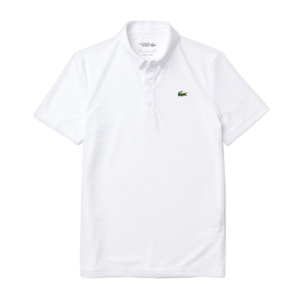 Lacoste Sport Textured Breathable Polo (Men's) - White