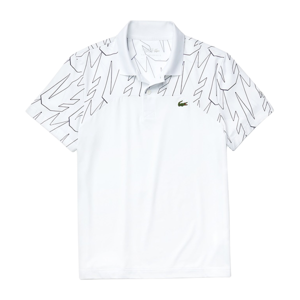 Lacoste Sport x Novak Breathable Ultra-Light Polo (Men's) - White/Navy Blue
