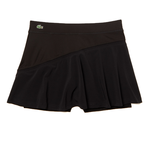 Lacoste Sport Built-In Shorts Tennis Skirt (Women's) - Black/Black-Bottoms-online tennis store canada