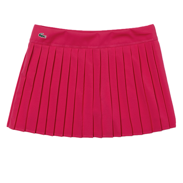 Lacoste Sport Tennis Pleated Skirt (Women's) - Fuchsia-Bottoms-online tennis store canada