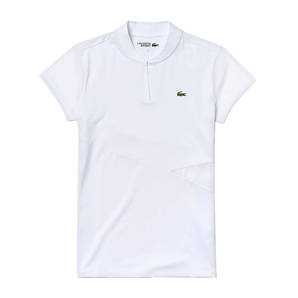 Lacoste SPORT V-Neck Breathable Tennis Polo (Women's) - White-Tops-online tennis store canada