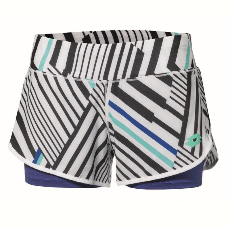 Lotto Top Ten II Tennis Printed Short (Women's) - Bright White/Sodalite Blue