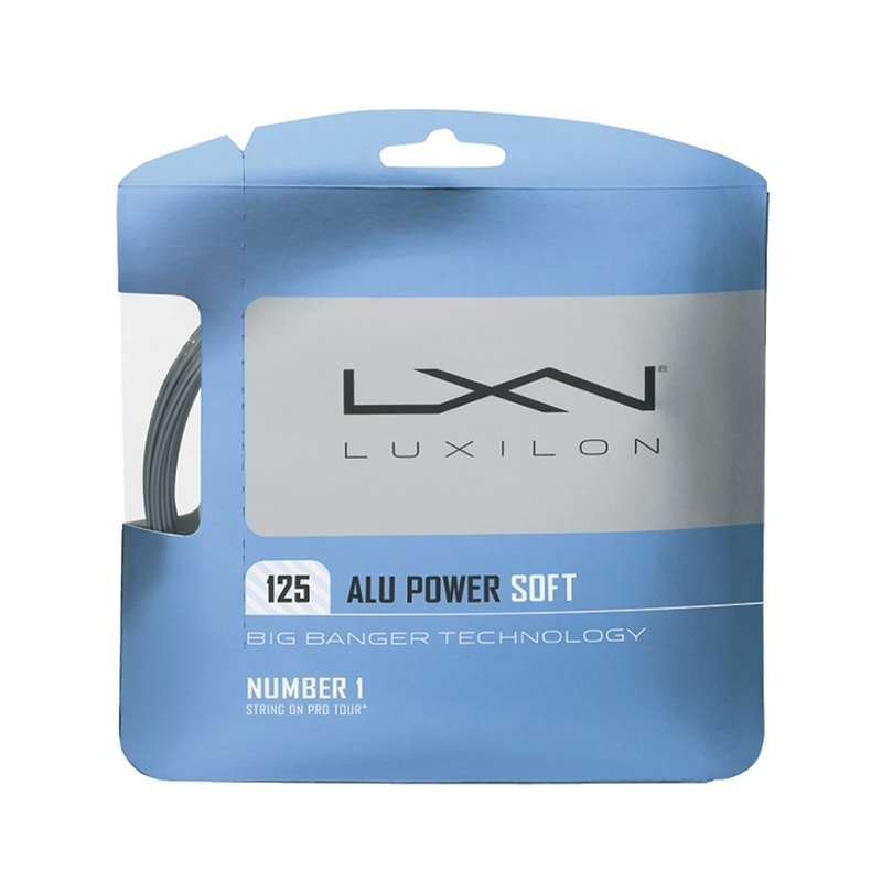 Luxilon Alu Power Soft 125 Pack - Silver-Tennis Strings-online tennis store canada