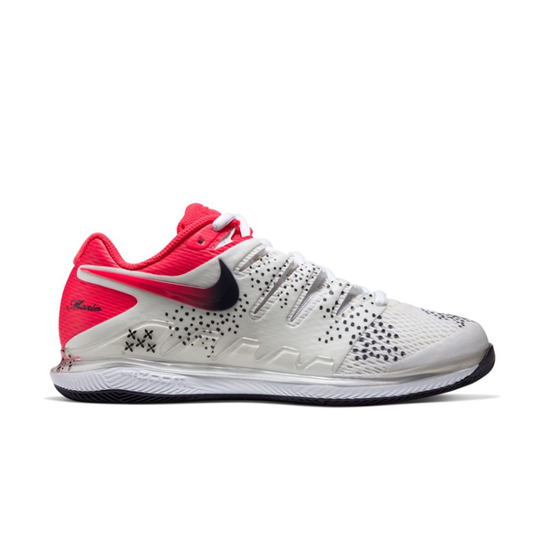 Nike Air Zoom Vapor X Maria (Women's) - Summit White/Laser Crimson/Gridiron