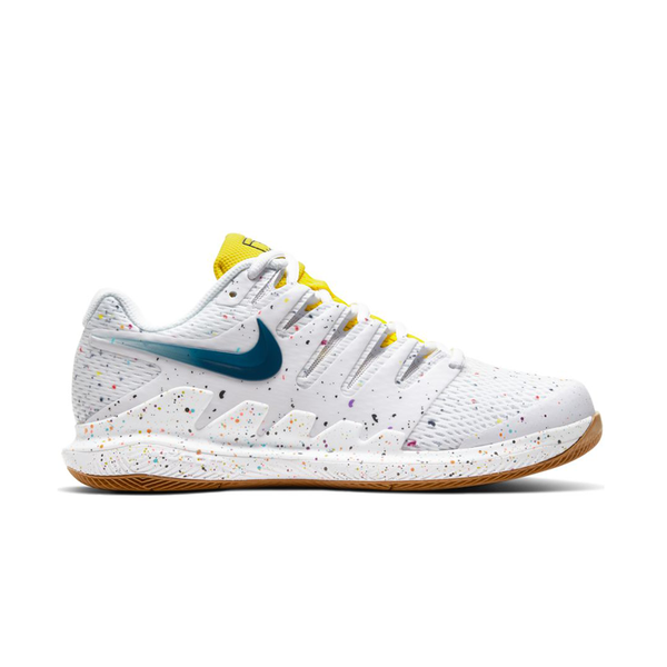 Nike Air Zoom Vapor X (Women's) - White/Valerian Blue/Optic Yellow/Wheat
