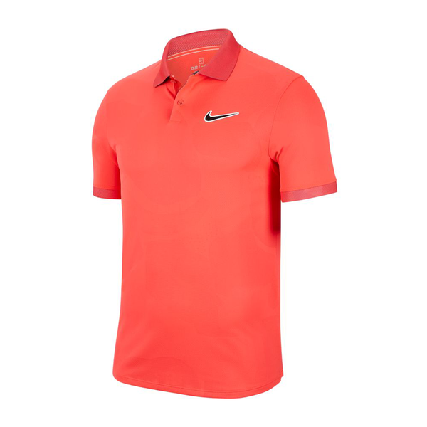 Nike Court Breathe Advantage Polo (Men's) - Laser Crimson/Off Noir