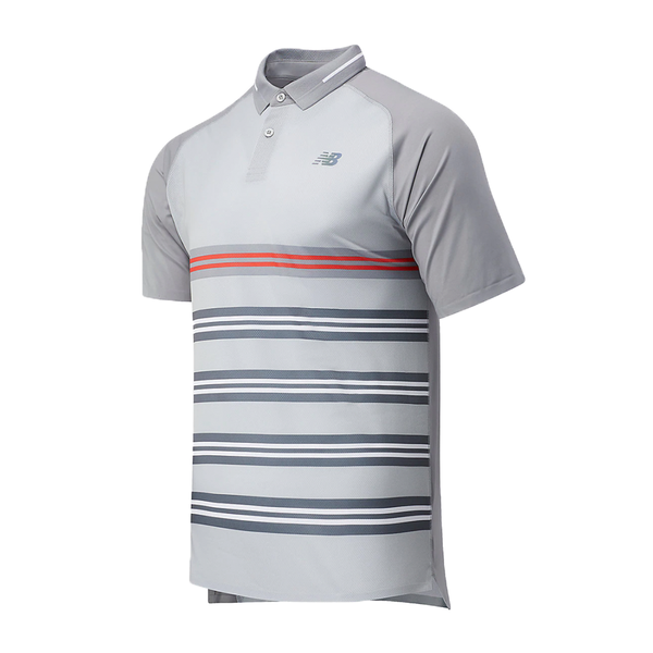 New Balance Printed Tournament Polo (Men's) - Lead