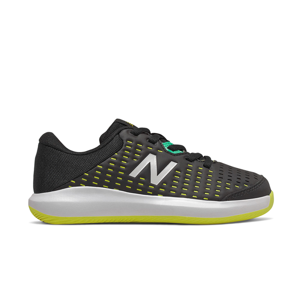 New Balance 696V4 (Junior) - Black/Sulphur Yellow/Neon Emerald