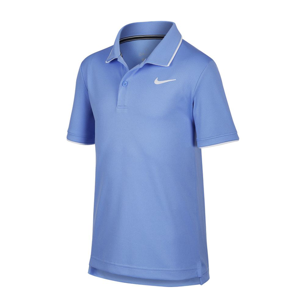 Nike Court Dri-Fit Tennis Polo (Boy's) - Royal Pulse/White