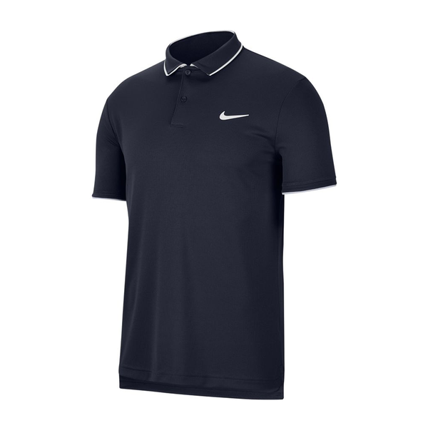 Nike Court Dri-Fit Tennis Polo (Men's) - Obsidian/White