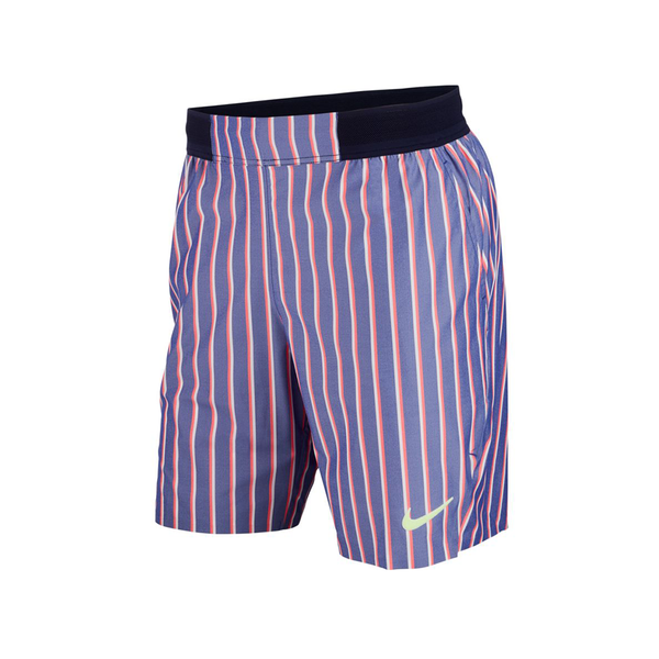 Nike Court Slam Tennis Shorts (Men's) - Deep Night/Blackened Blue/Ghost Green