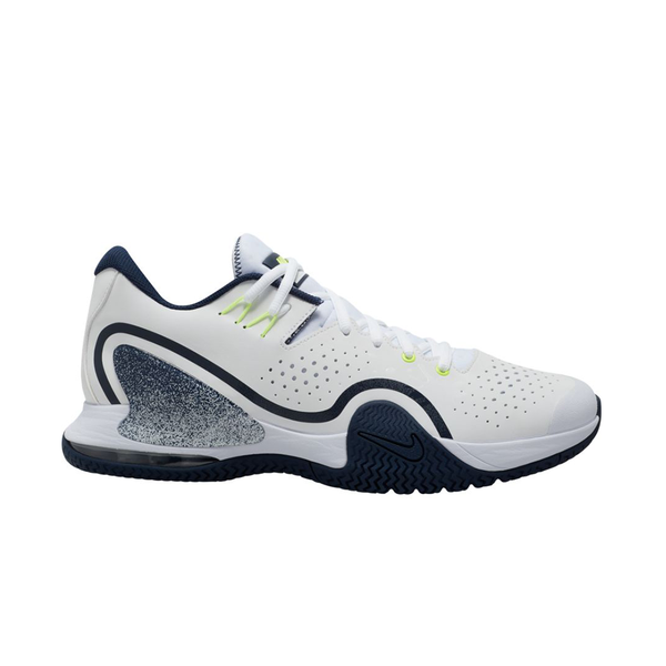 Nike Court Tech Challenge 20 (Men's) - White/College Navy/Hot lime