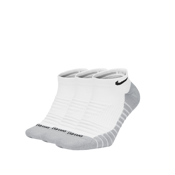 Nike Everyday Max Cushioned No-Show Tennis Socks - White/Wolf Grey/Black