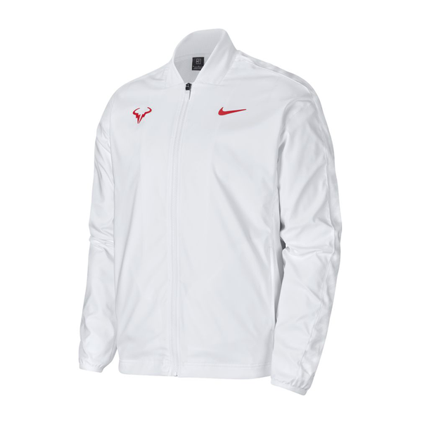 Nike Rafa Tennis Jacket (Men's) - White/Laser Crimson