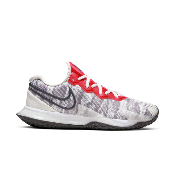 Nike Air Zoom Vapor Cage 4 (Women's) - Platinum Tint/Thunder Grey/Laser Crimson