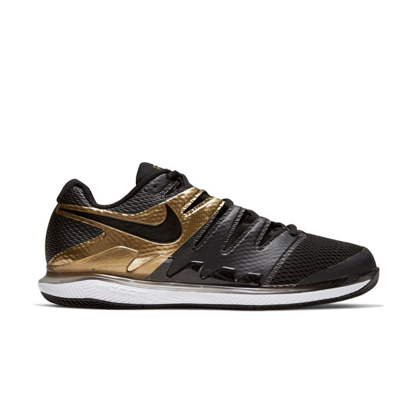 Nike Air Zoom Vapor X HC (Men's) - Black/Black/Metallic Gold-Footwear-online tennis store canada