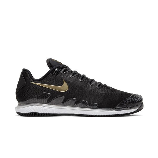 Nike Air Zoom Vapor X Knit (Men's) - Black/Metallic Gold/White-Footwear-online tennis store canada