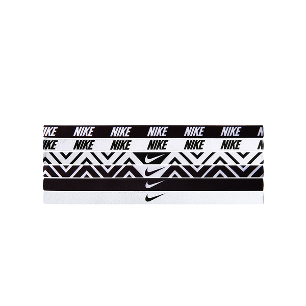 Nike Printed Headbands Assorted (6 pack) - Black/White-Headbands-online tennis store canada