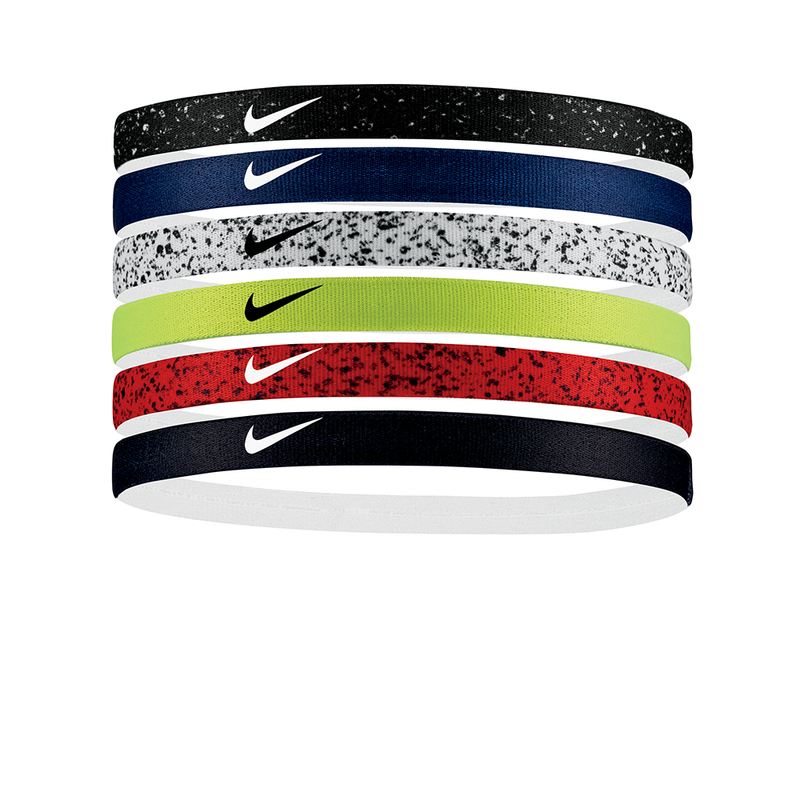 Nike Printed Headbands Assorted (6 pack) - Multi Speckle-Headbands-online tennis store canada