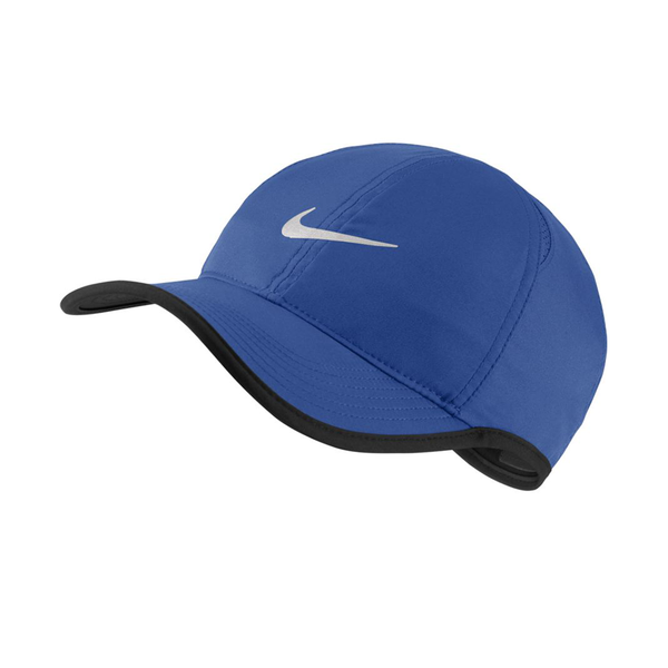 Nike Court Aerobill Featherlight Tennis Cap - Royal Game/Black/White-Hats-online tennis store canada